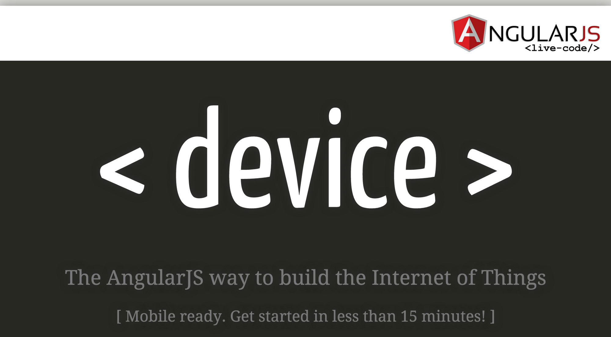 Building your first App for the Internet of Things in 15 minutes