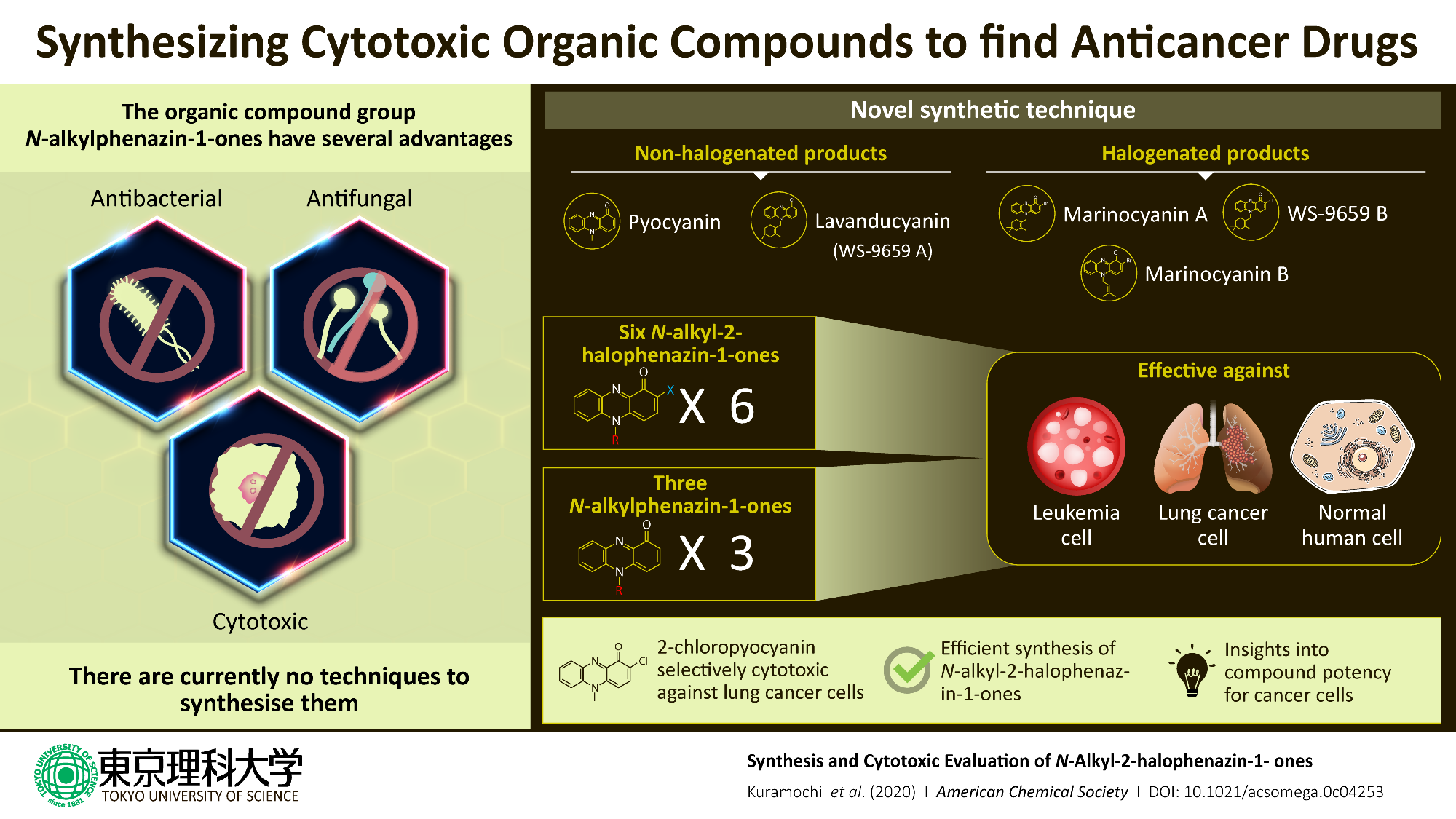 a method of combining natural organic compounds which can create anticancer drugs with minimal side effects