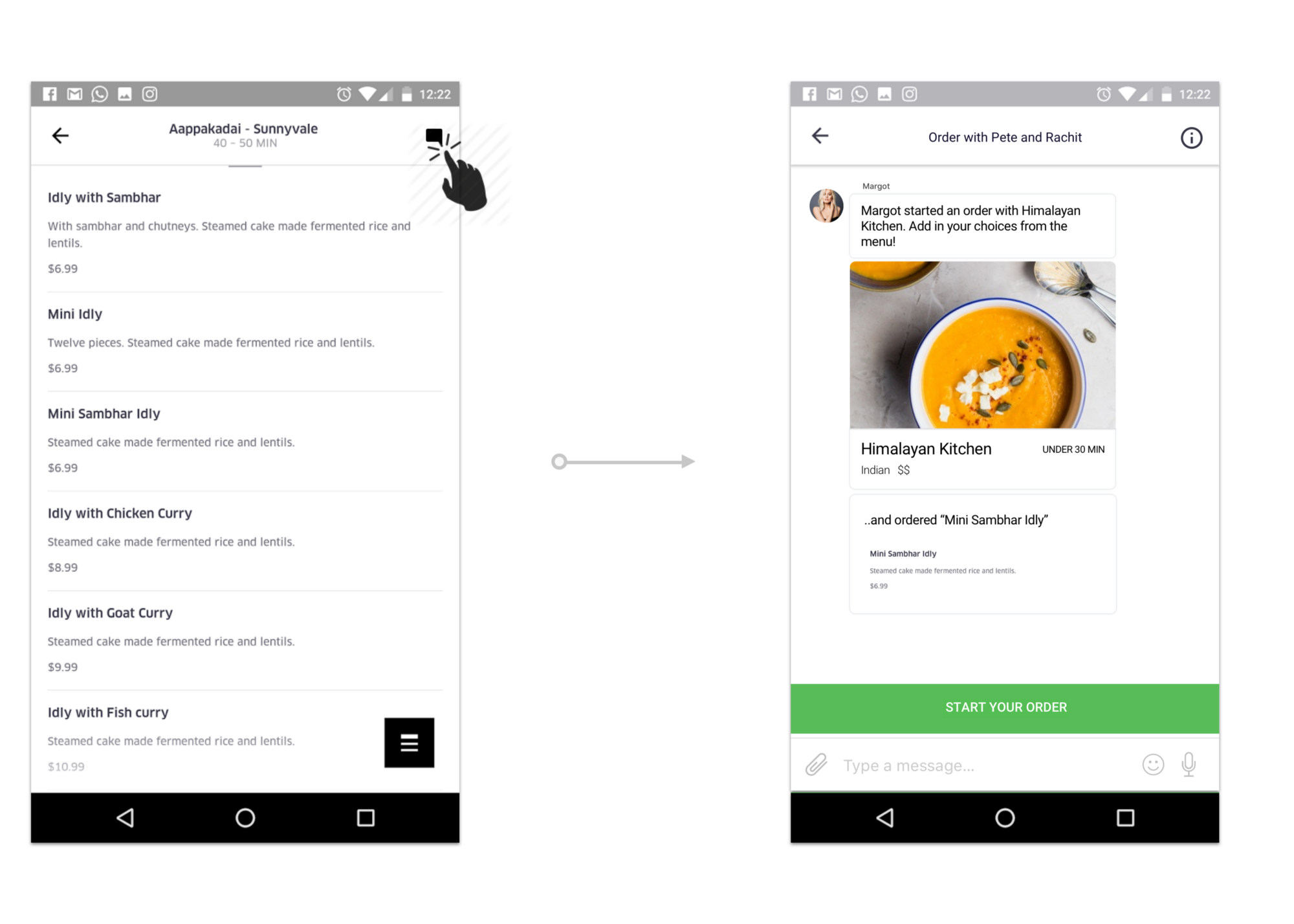 How UberEats could make ordering for groups of friends simpler — a