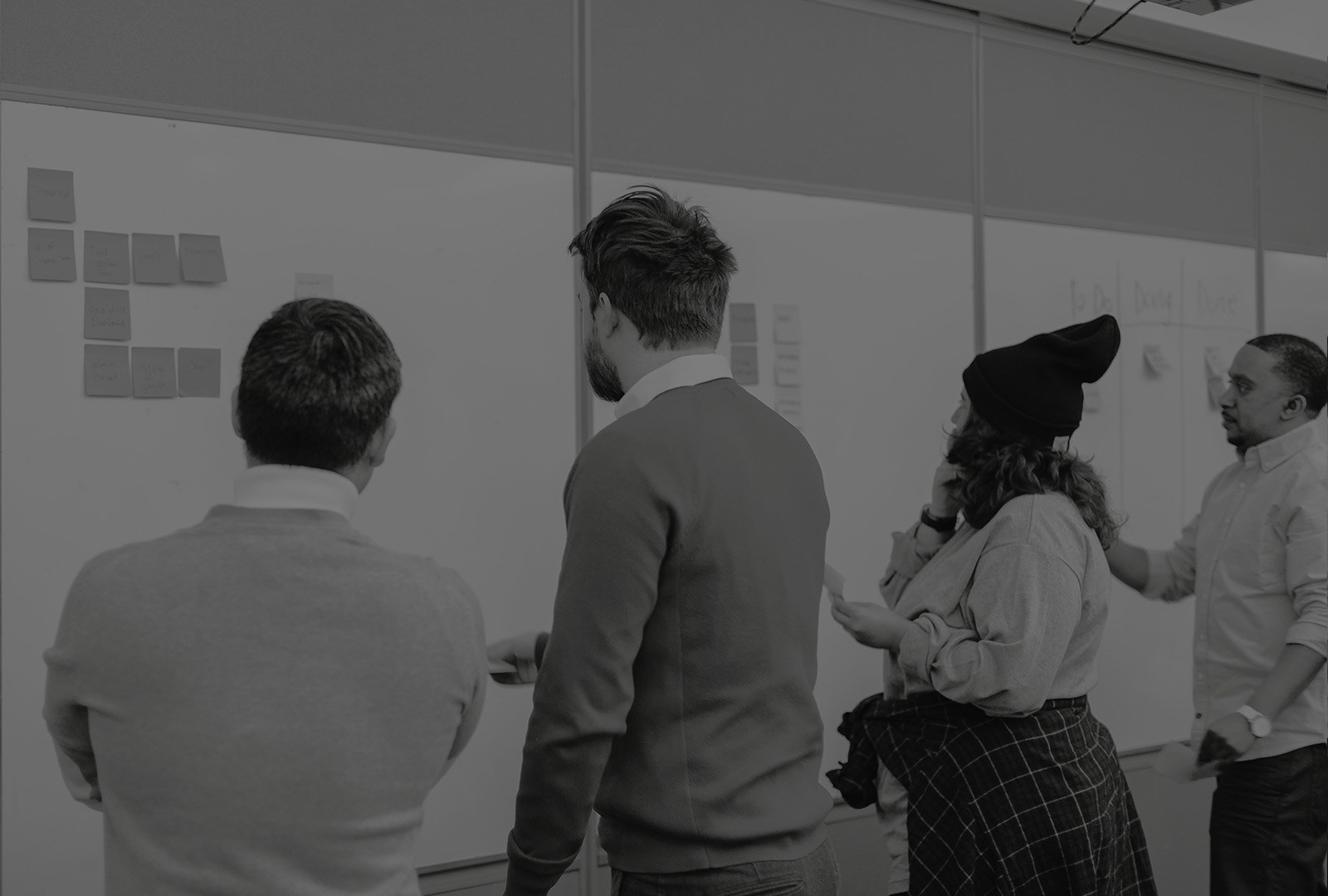 Affinity mapping during a design sprint