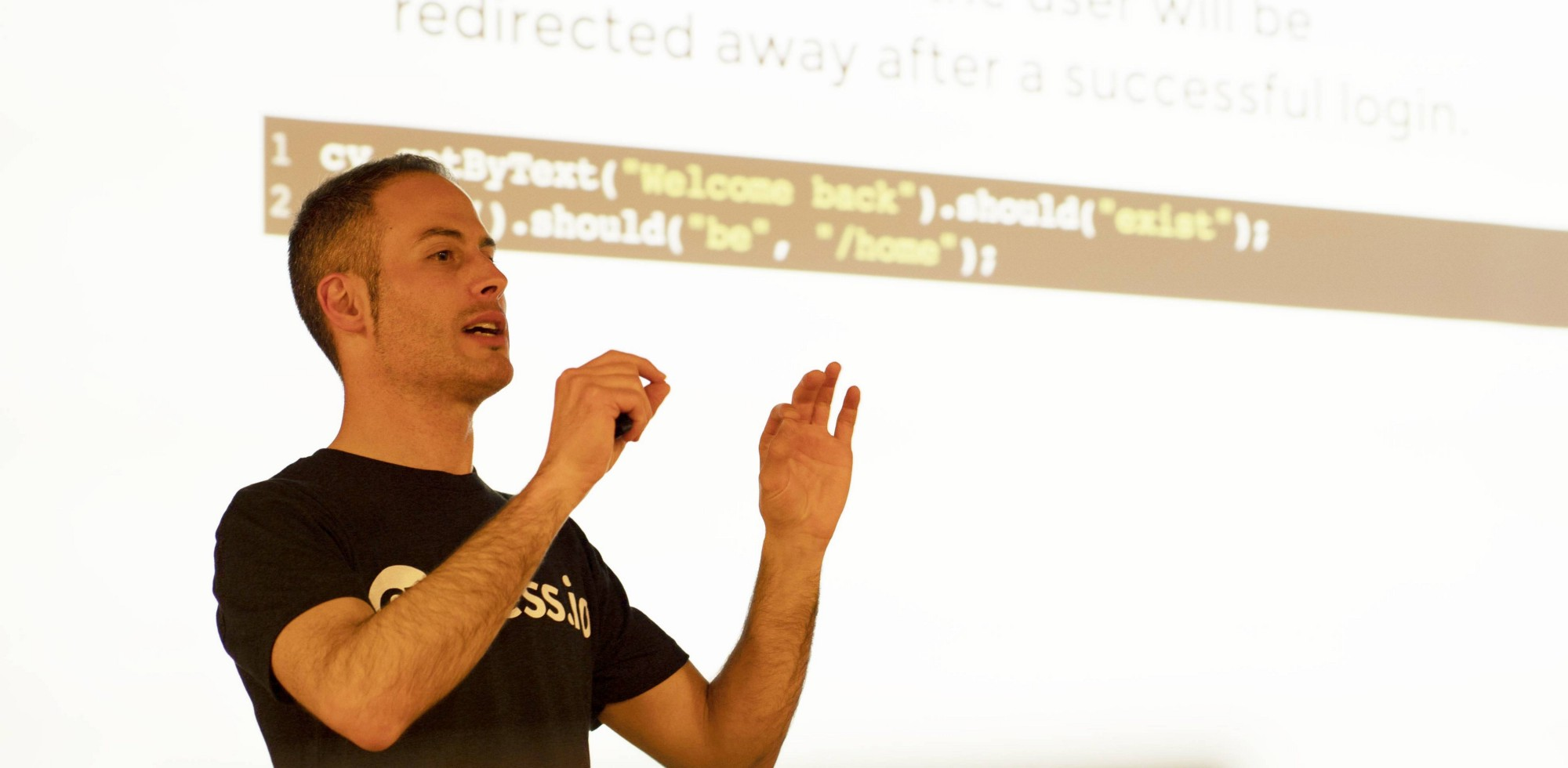 Me speaking at Milano Front-end.