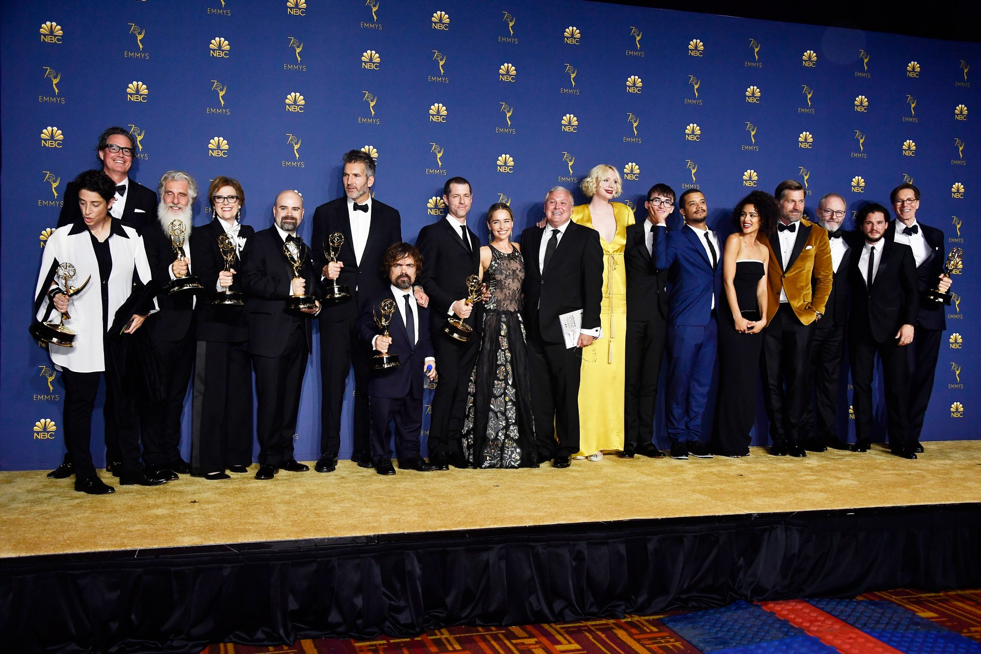 The cast and crew of 'Game of Thrones' at the 70th Emmy Awards.