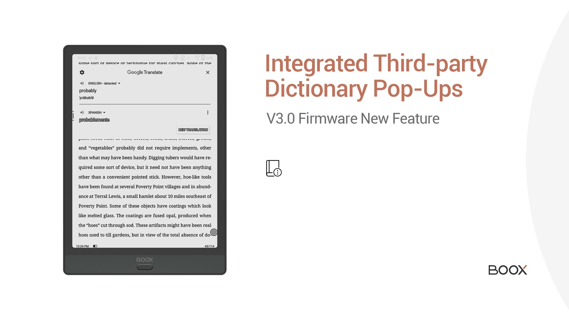 Integrated third-party dictionaries popups