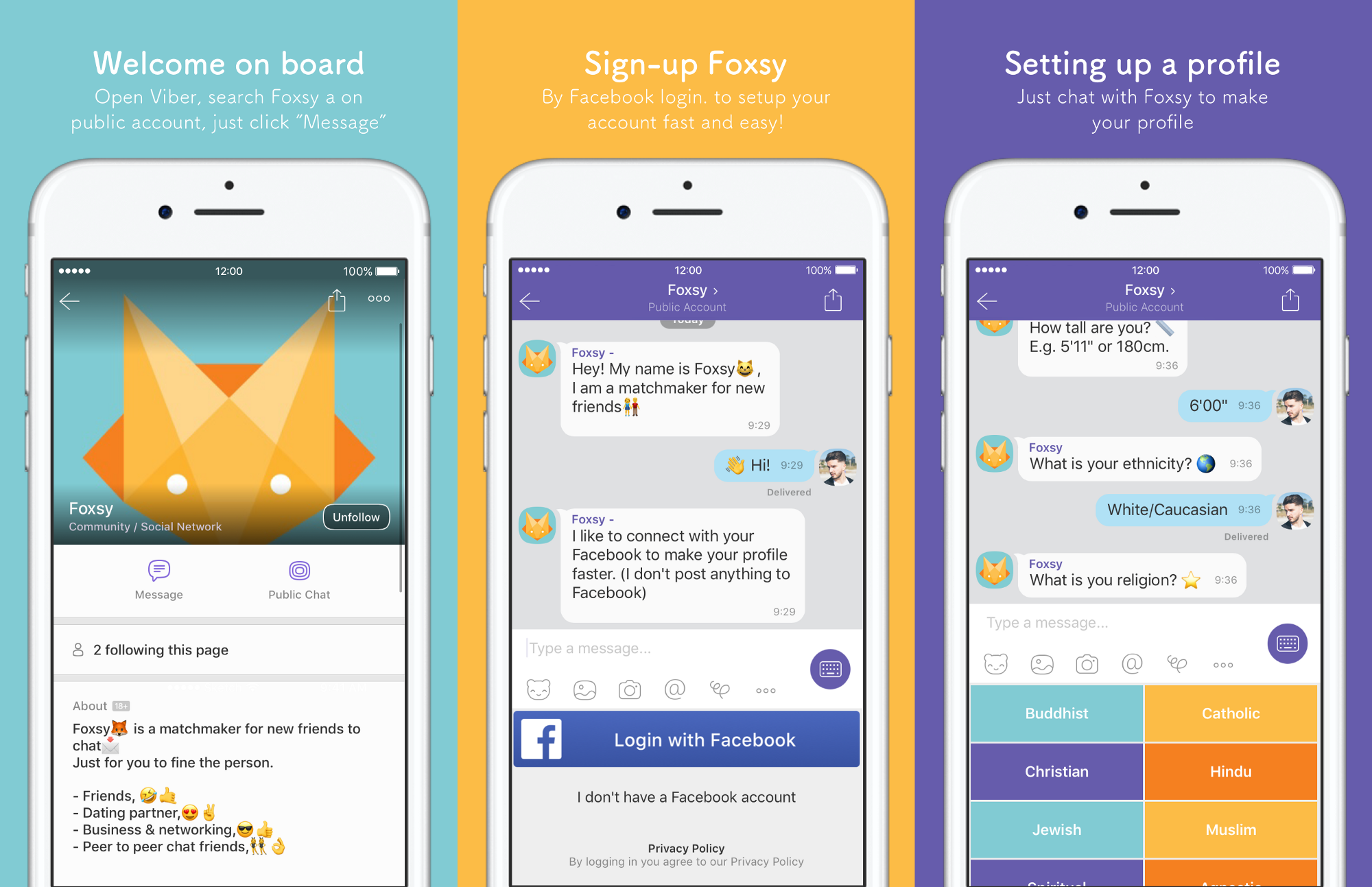 Let's vibe with new friends via Foxsy  - Chatbots Life