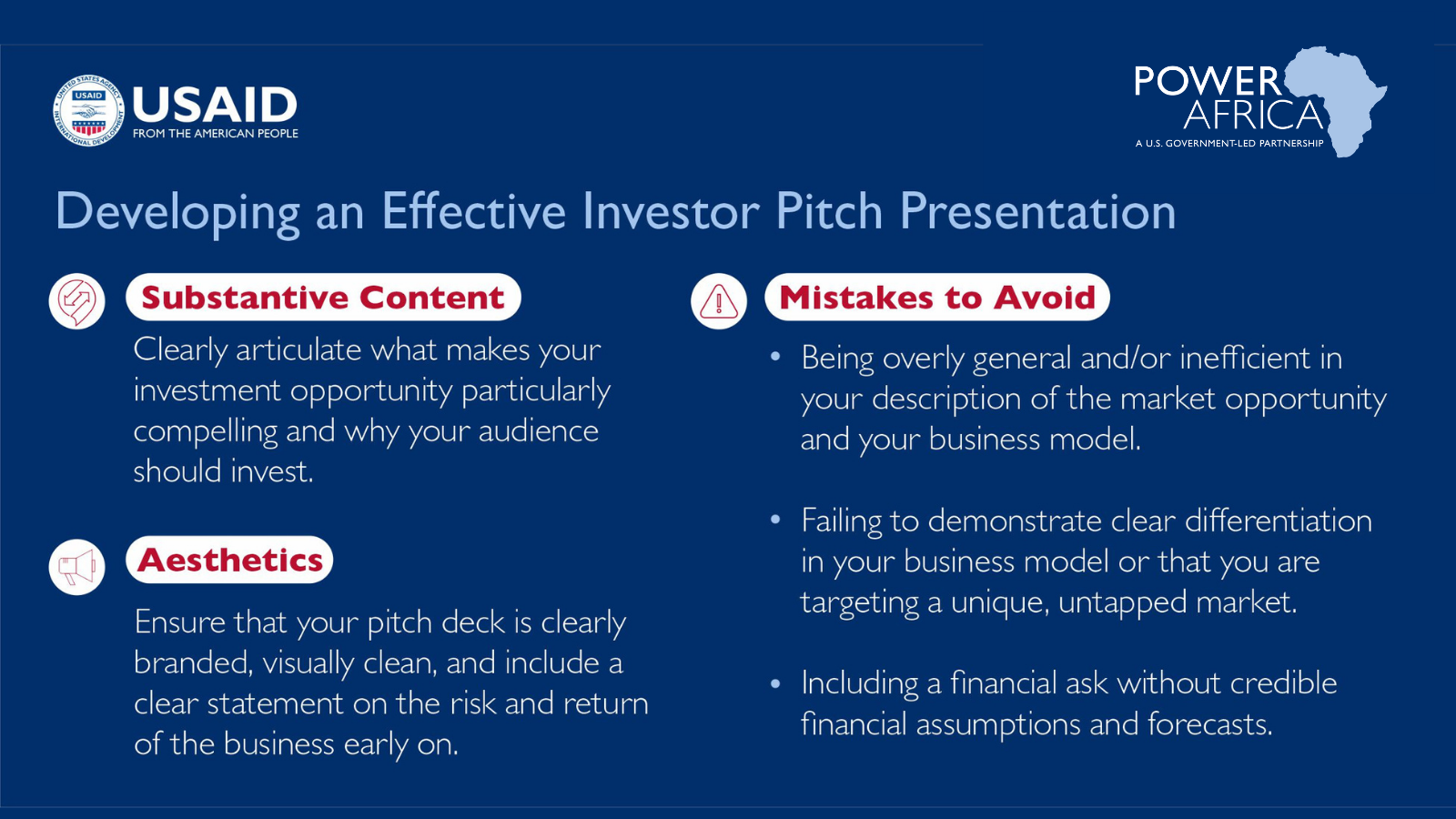 Developing an Effective Investor Pitch Presentation Infographic