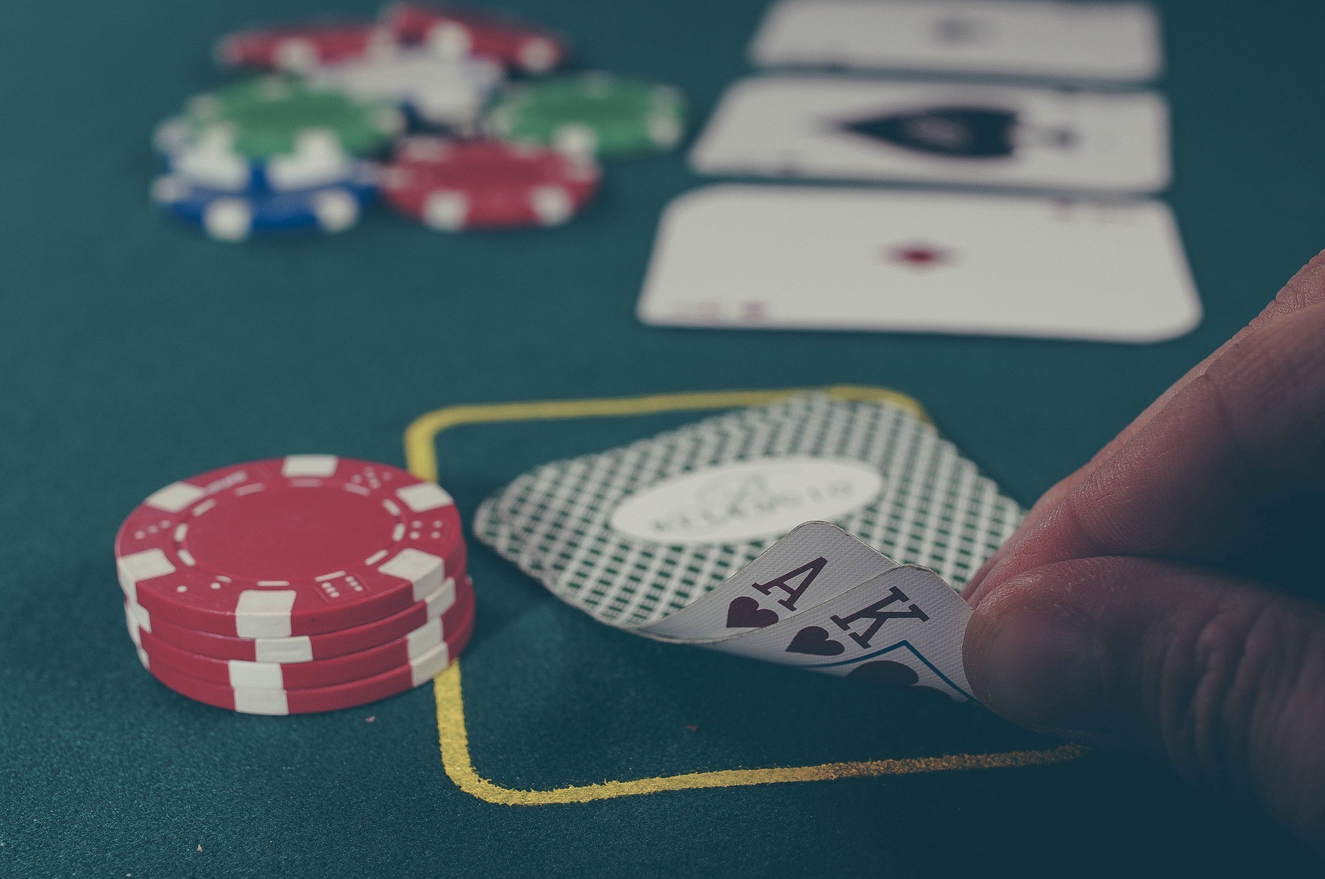 Life is like a poker game. Pair of cards and chips. Ace and King.