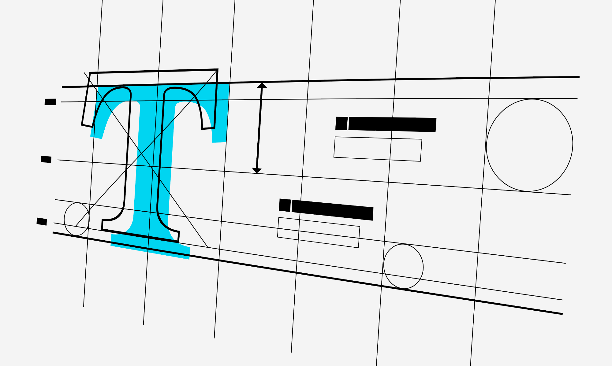 Illustration about a grid for typography