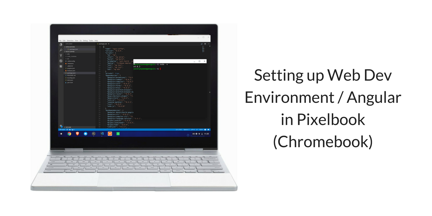 Setting up Web Dev Environment / Angular in Pixelbook (Chromebook)