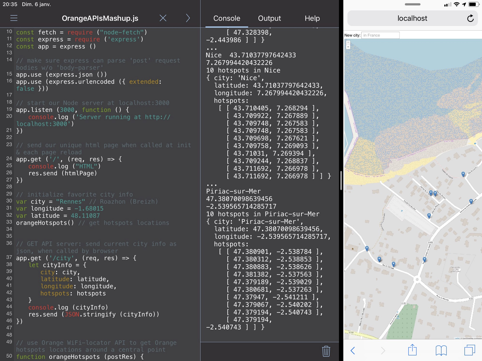 APIs, back & front development on iPad - Thierry Gaillet - @ThyGat
