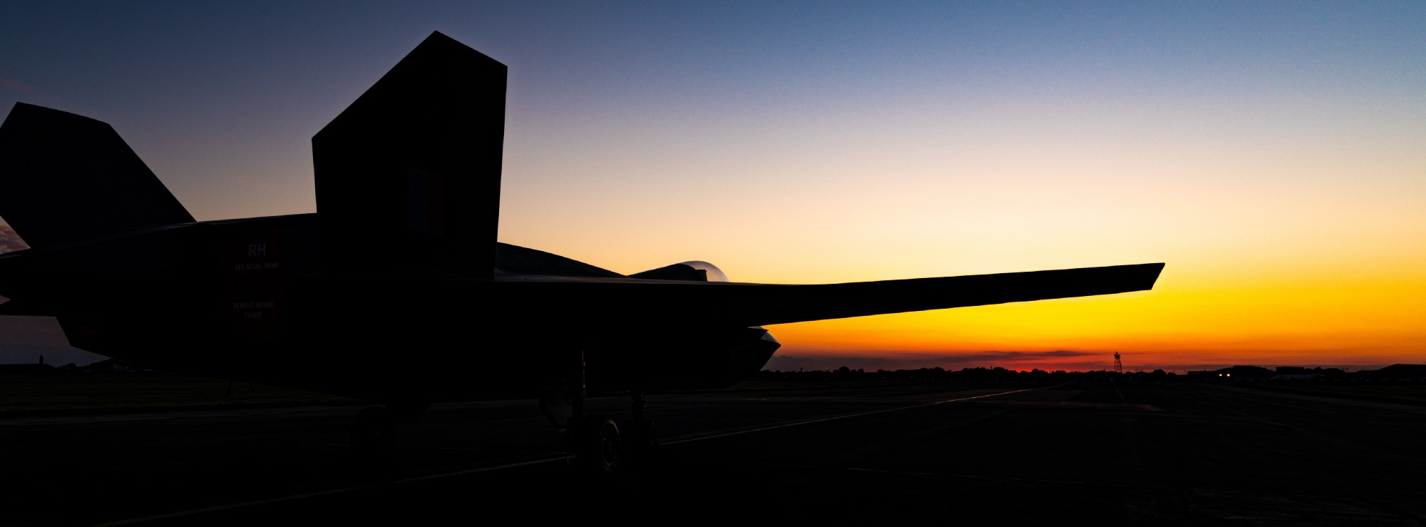 Silhouette of a Tempest jet