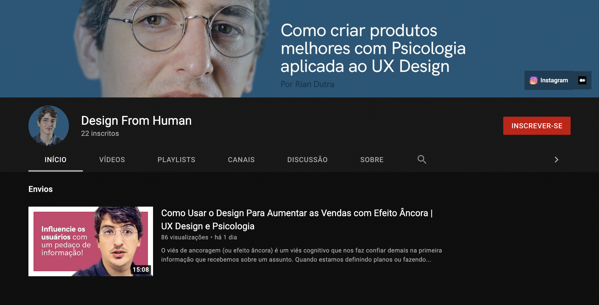 Design From Human, the Youtube channel.
