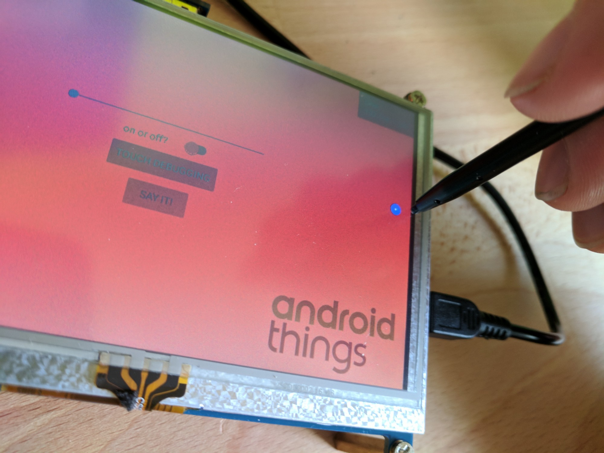 Android Things and Touch Display compatibility - Dirk Vranckaert