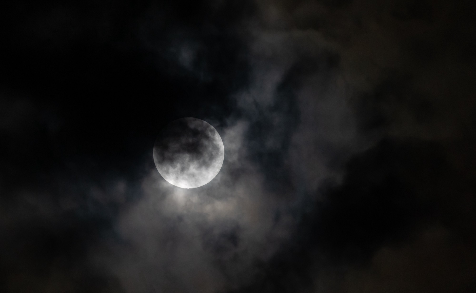 The moon on a cloudy night