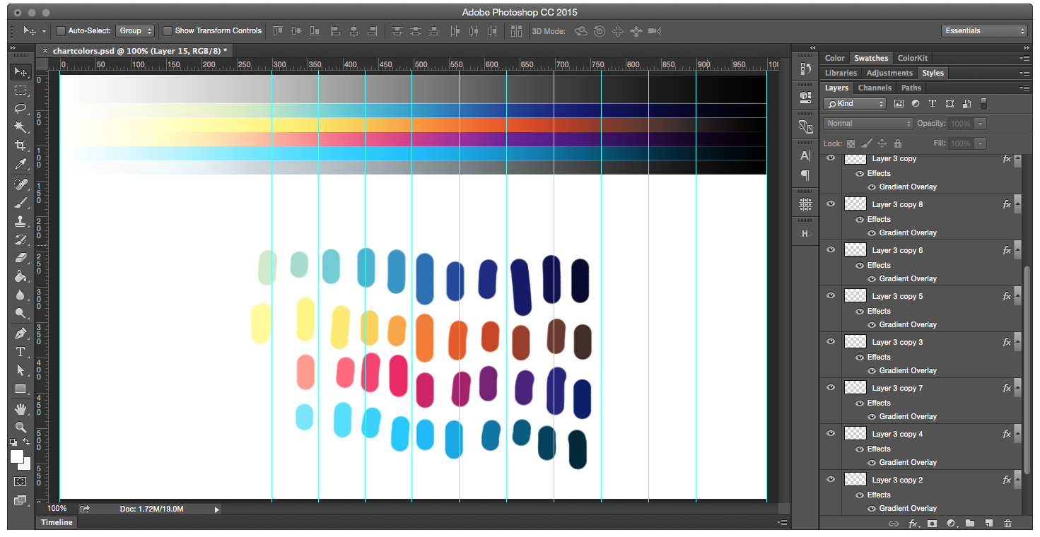 How to create a color chart in photoshop
