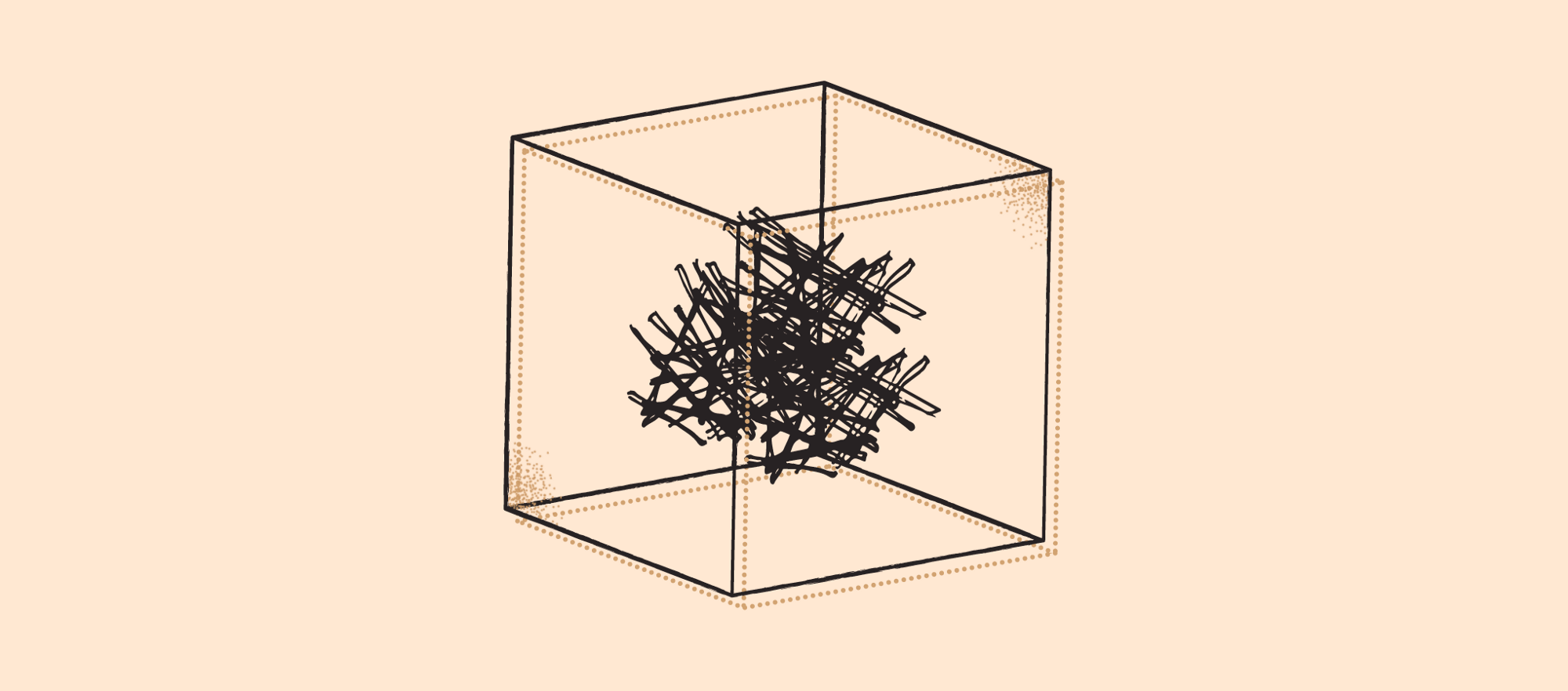 Illustration: A cube with measured, clean edges, and a mess inside.