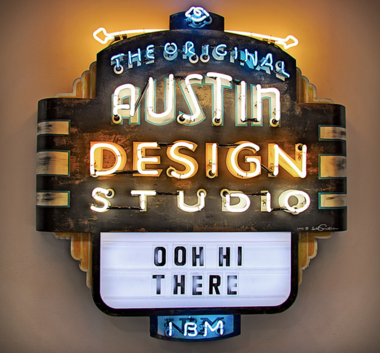 Picture of IBM Studio neon sign