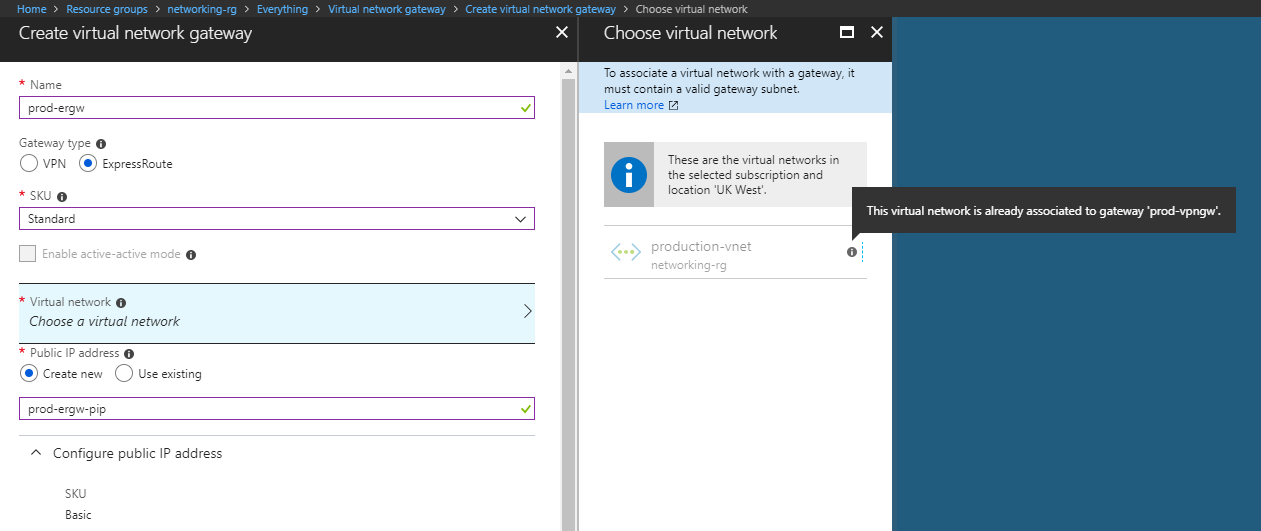 Azure ExpressRoute and S2S VPN Co-existence Issue - Azure Architects