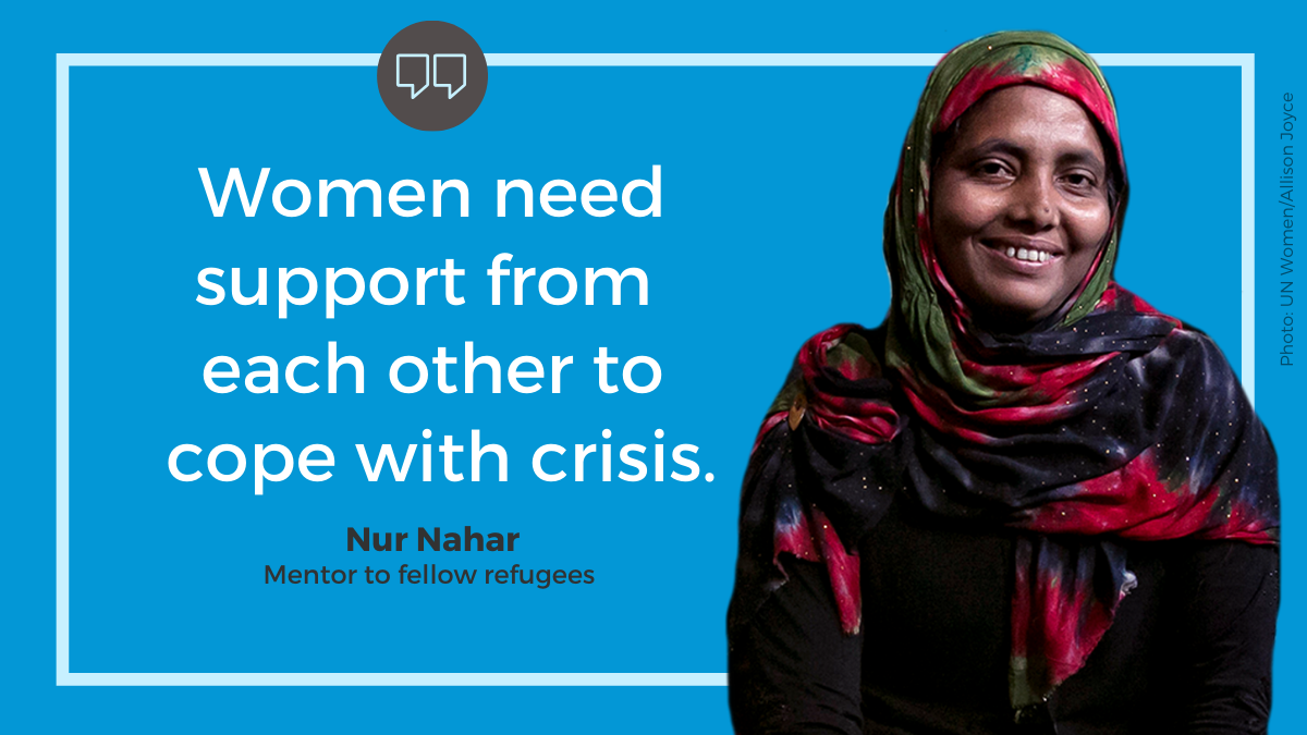 """""""Women need support from each other to cope with crisis."""""""