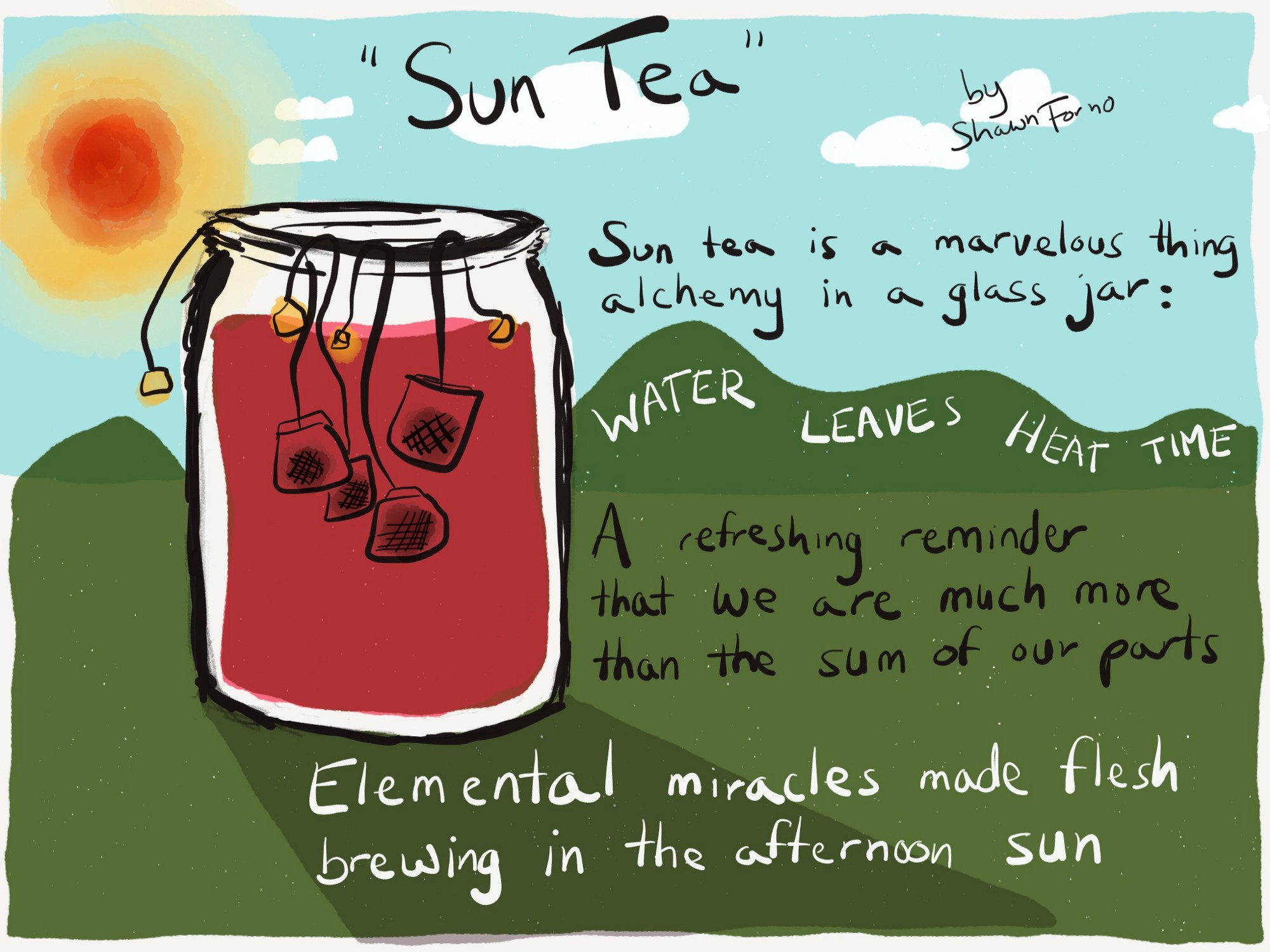A poem about sun tea