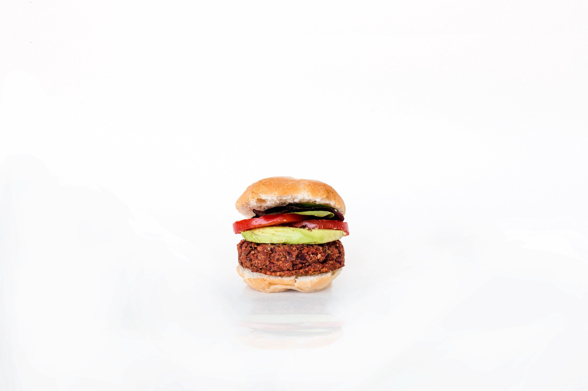 A Beyond Meat vegan hamburger