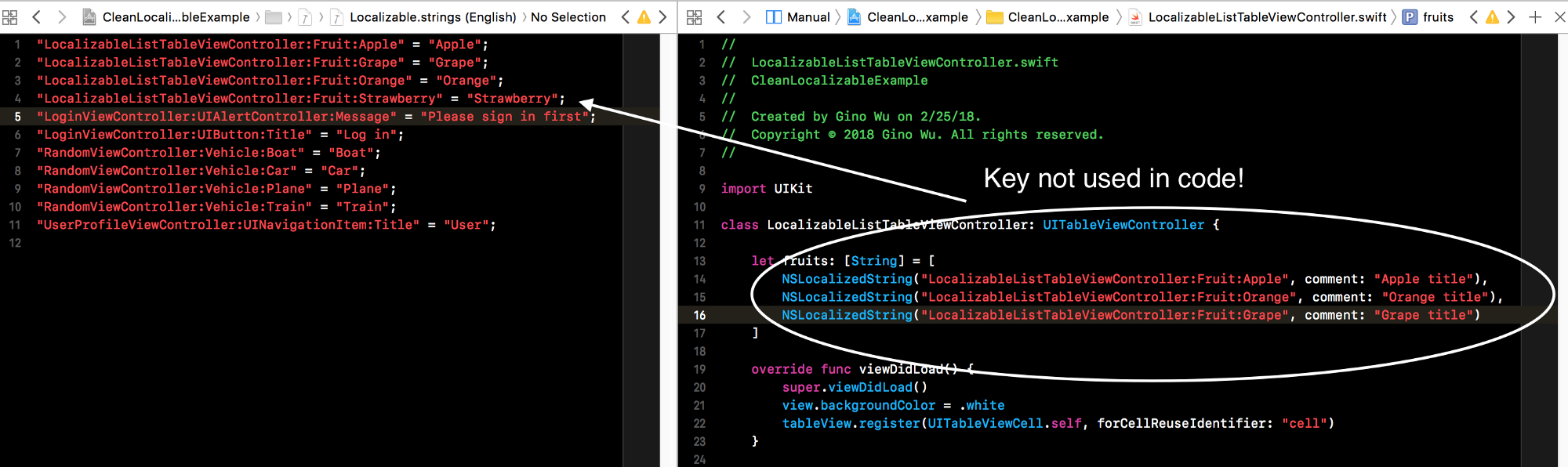 Clean iOS Localizable Files - Building VTS