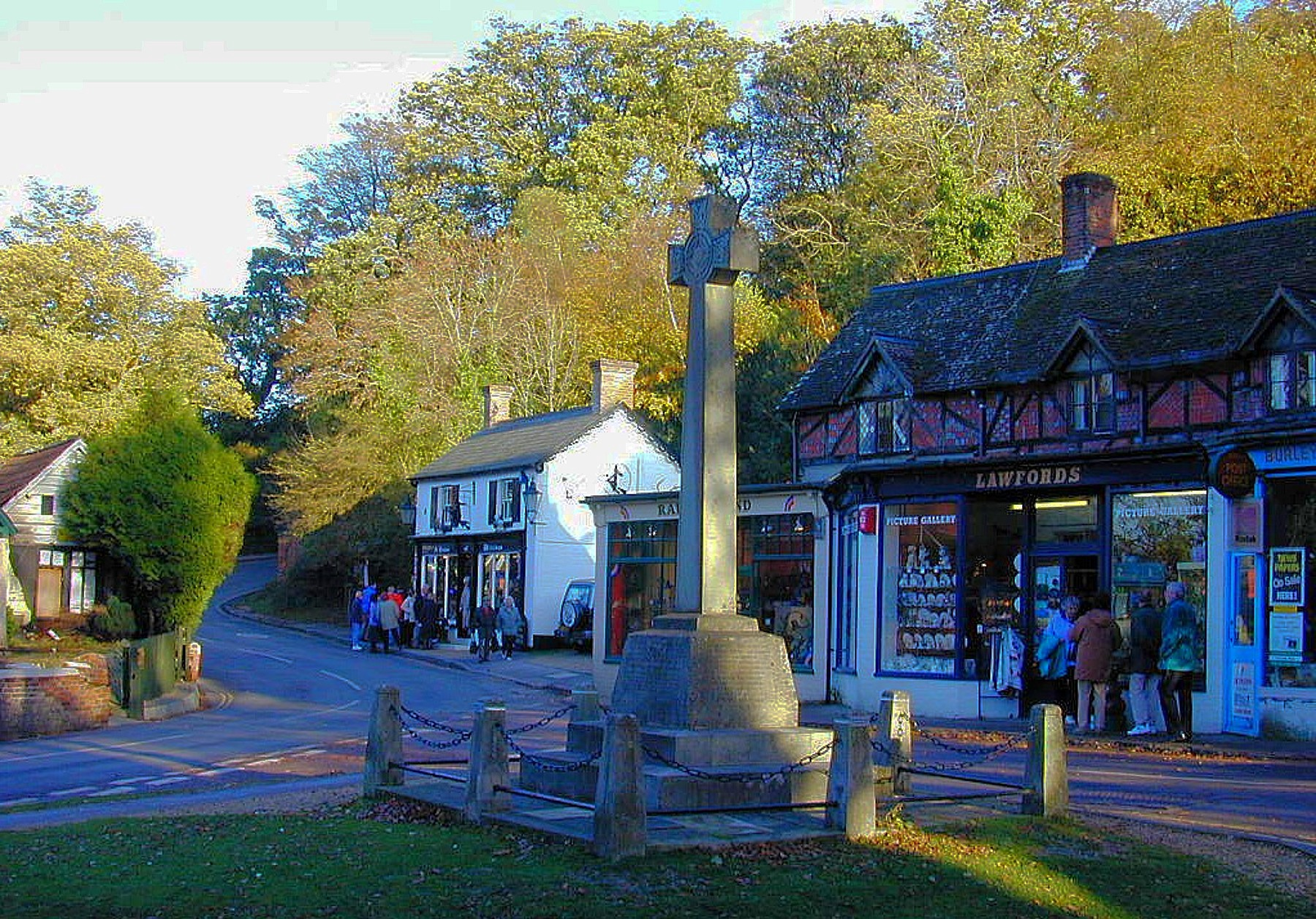 Burley Market Cross in England's New Forest National Park that is filled with enough stories of ghosts, witches, smugglers, and Ronald Reagan's astrologer to make every day seem like Halloween by David A. Laws
