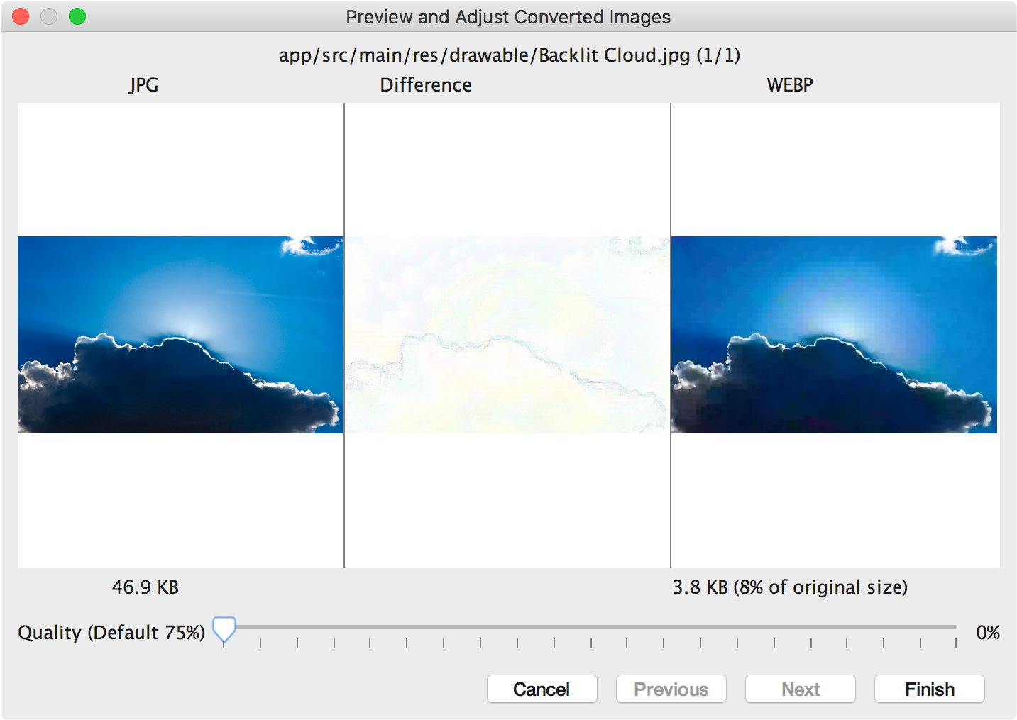 Convert Your PNG & JPEG into WebP Images Android - AndroidPub