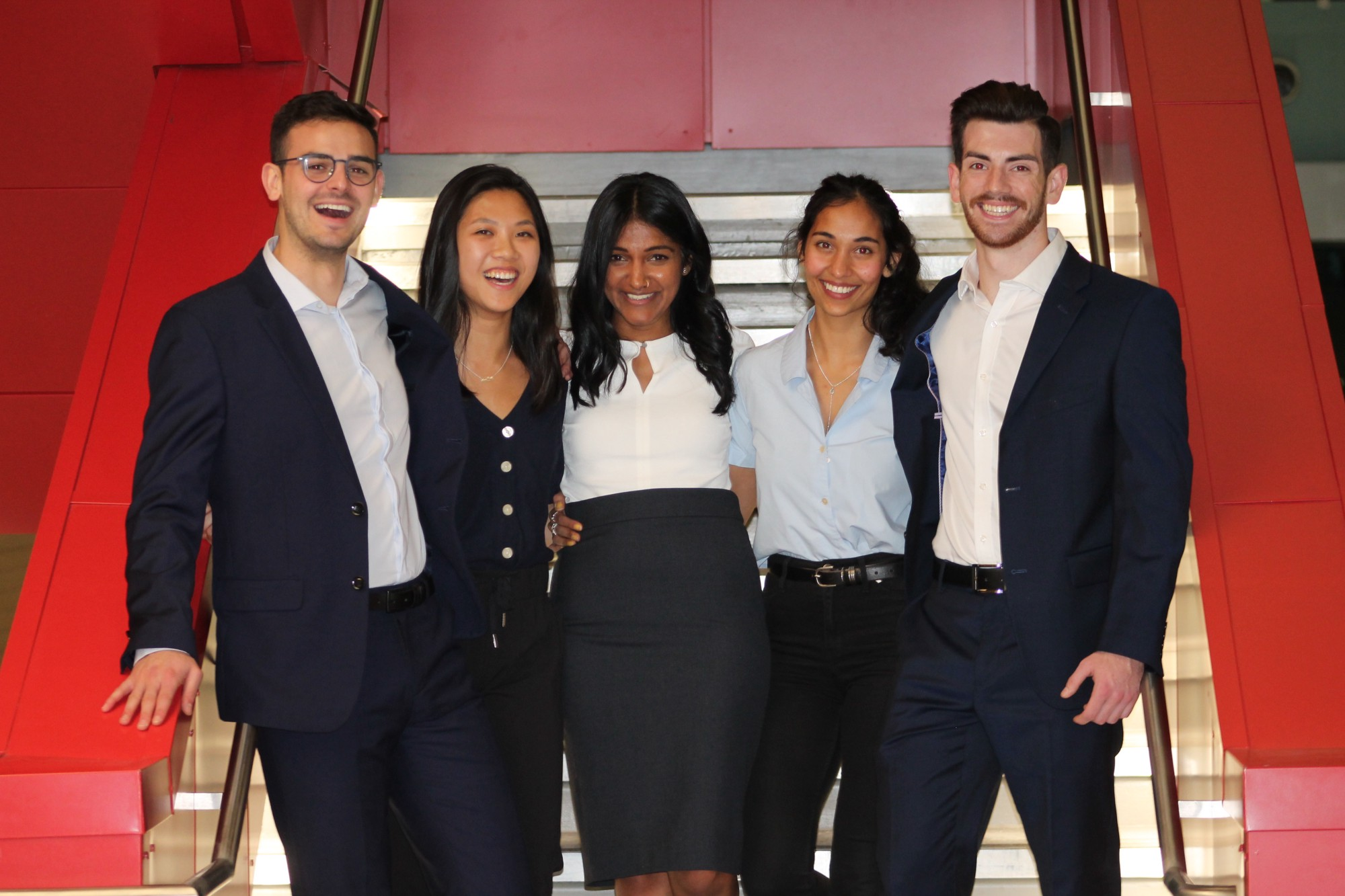 With a student team at the Hult competition campus Finals, Dec 2019