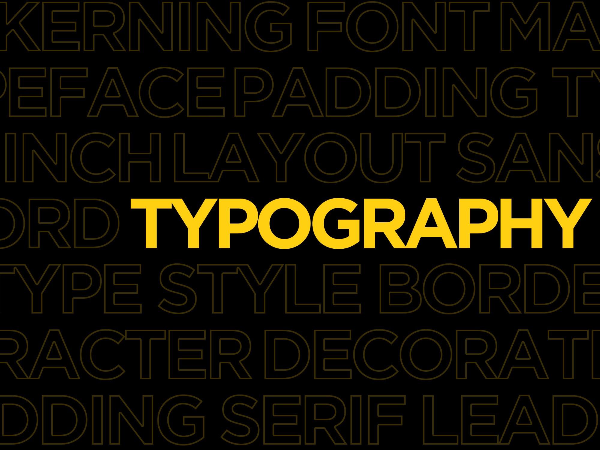 typography and its differences