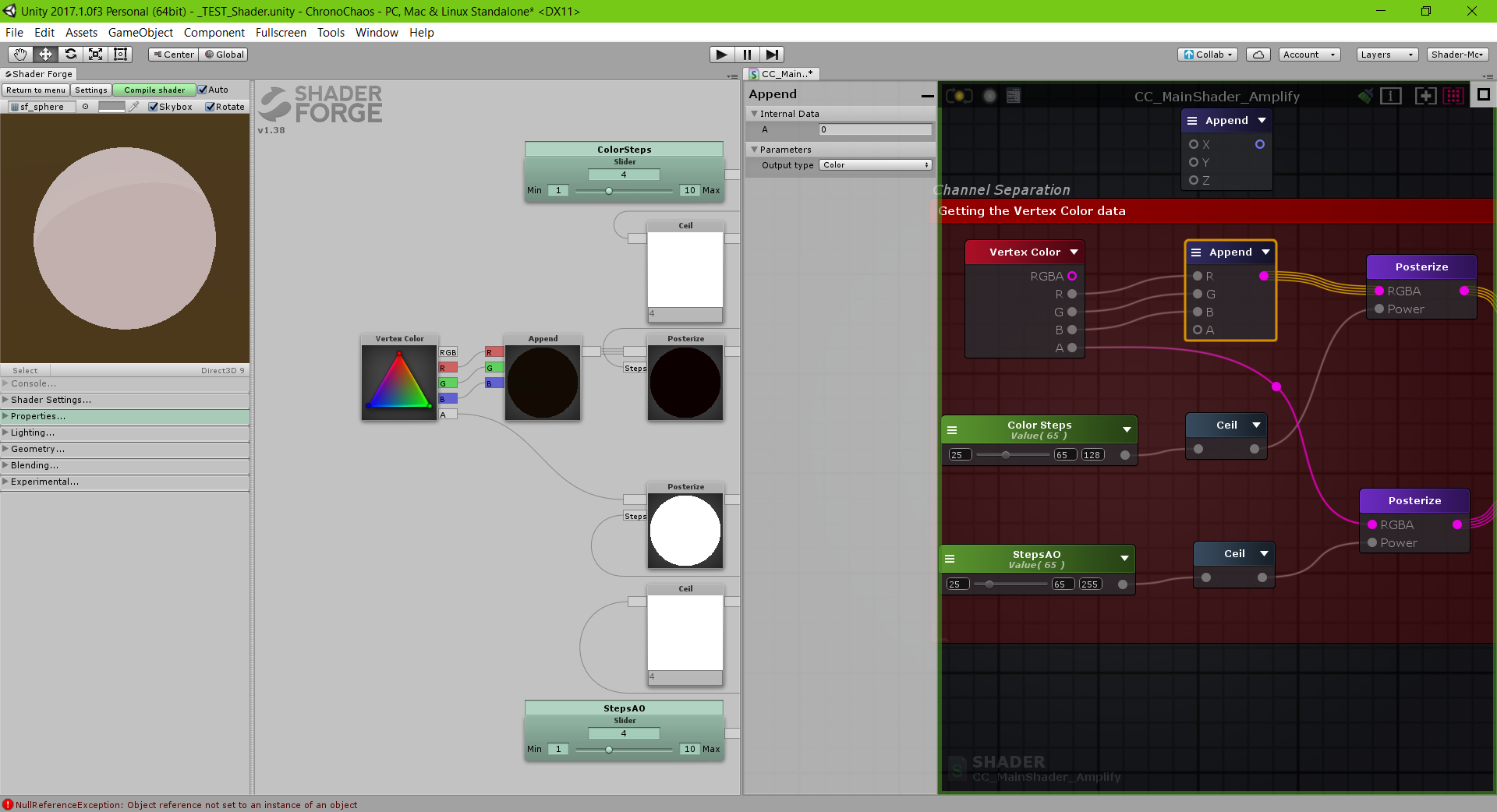 Porting from Shader Forge to Amplify Shader Editor in Unity