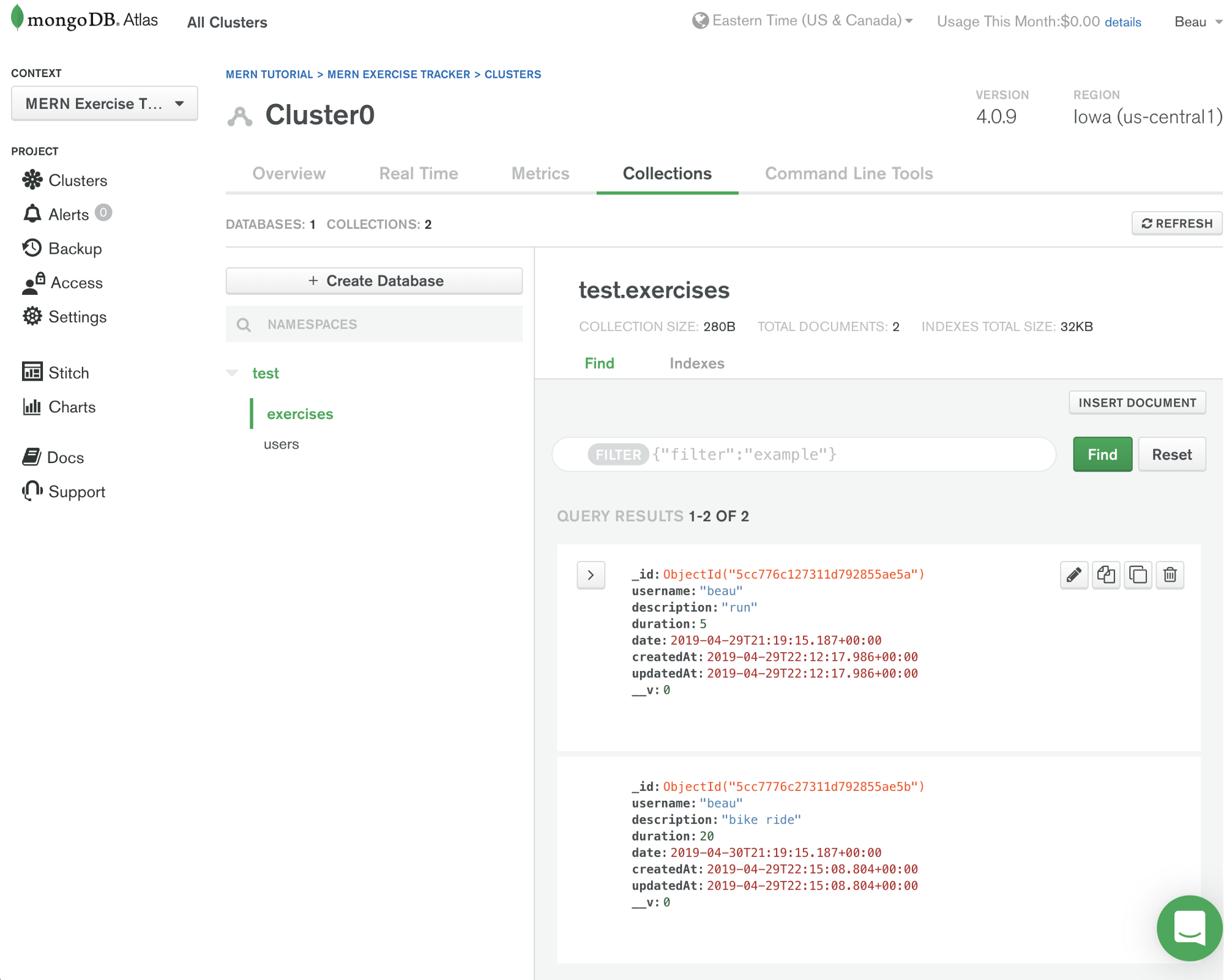 Learn the MERN stack by building an exercise tracker — MERN Tutorial
