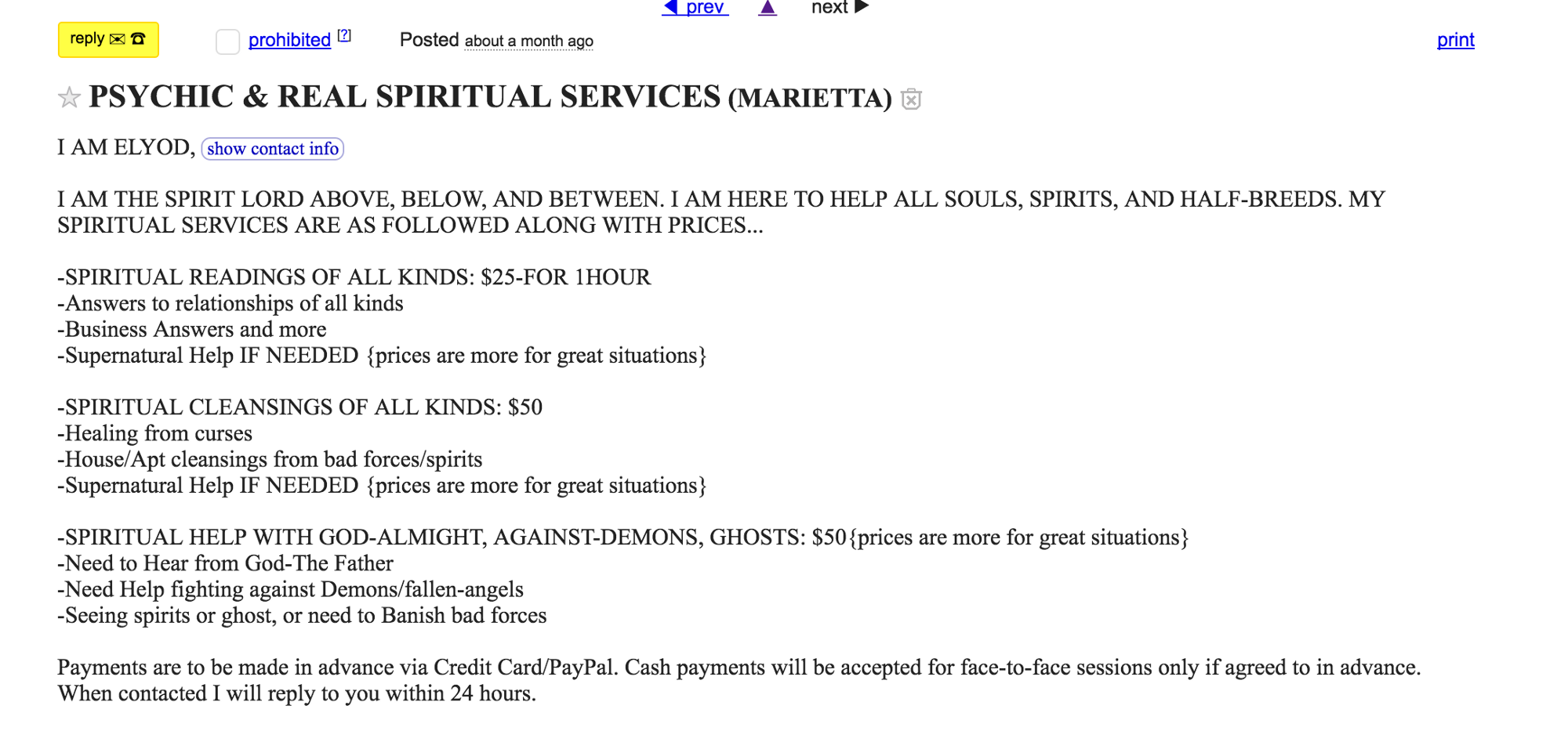 Craigslist Conjurations — An exploration into the interstices of
