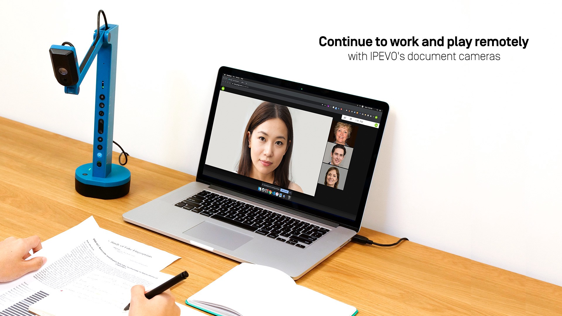 Continue to work and play remotely with IPEVO's document cameras