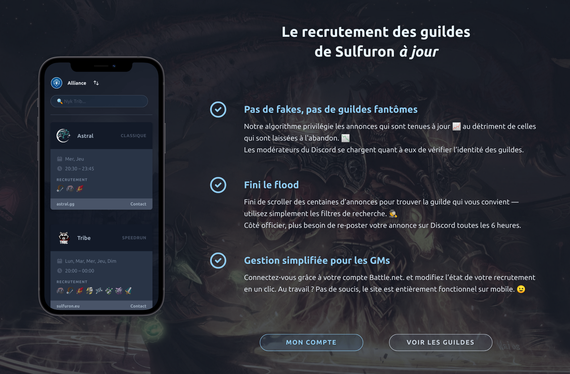 About page from the guilds portal website