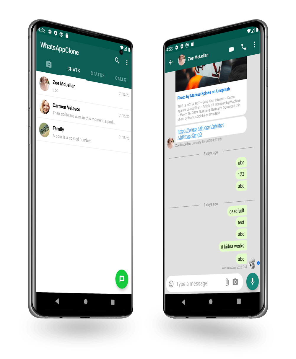 WhatsApp chat clone on Android Tutorial