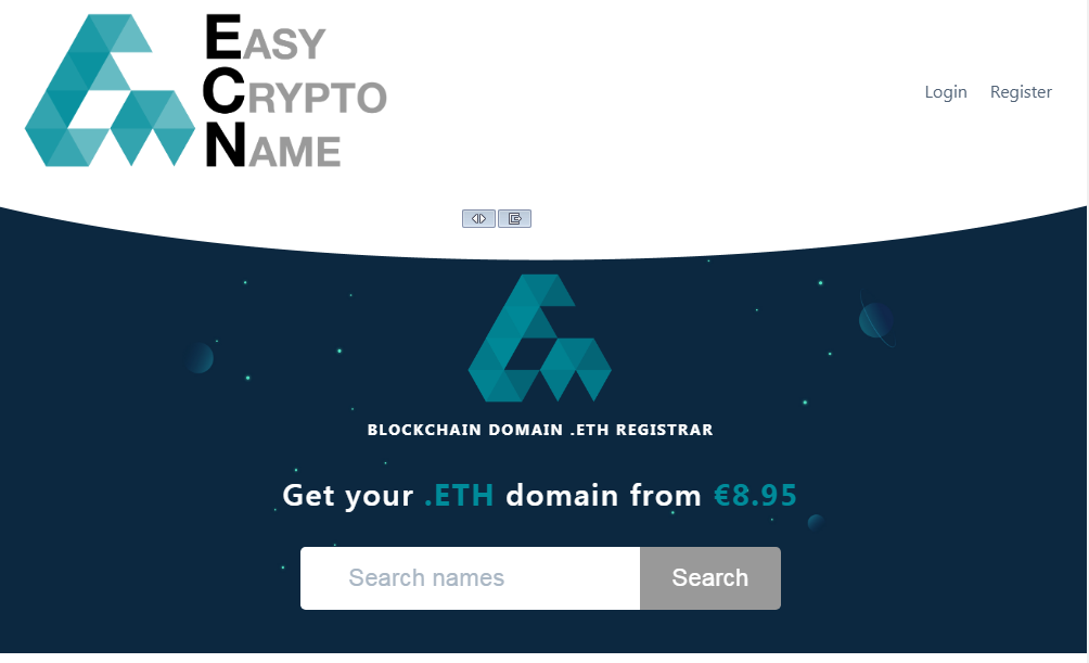 Go to easycryptoname.com and find your name