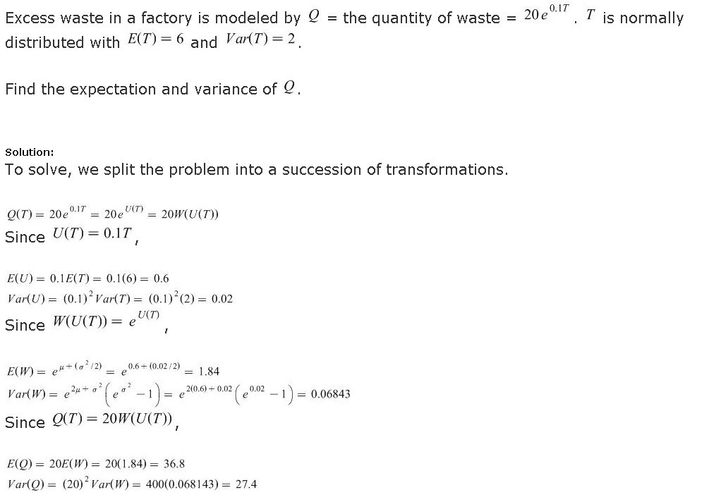 An example question from an actuarial exam