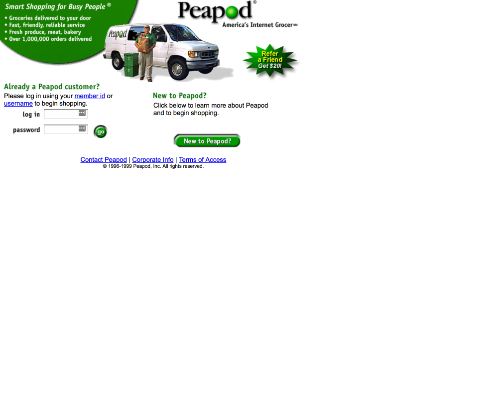 A Not-so-brief Landing Page History of Peapod - Peapod