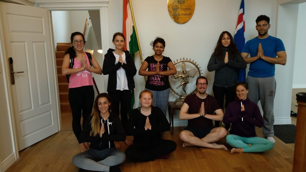 The Indian Embassy in Reykjavik offers free Yoga classes for the public