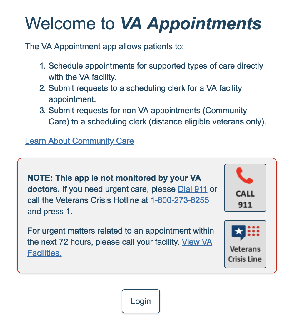 Improving the experience for Veterans scheduling medical