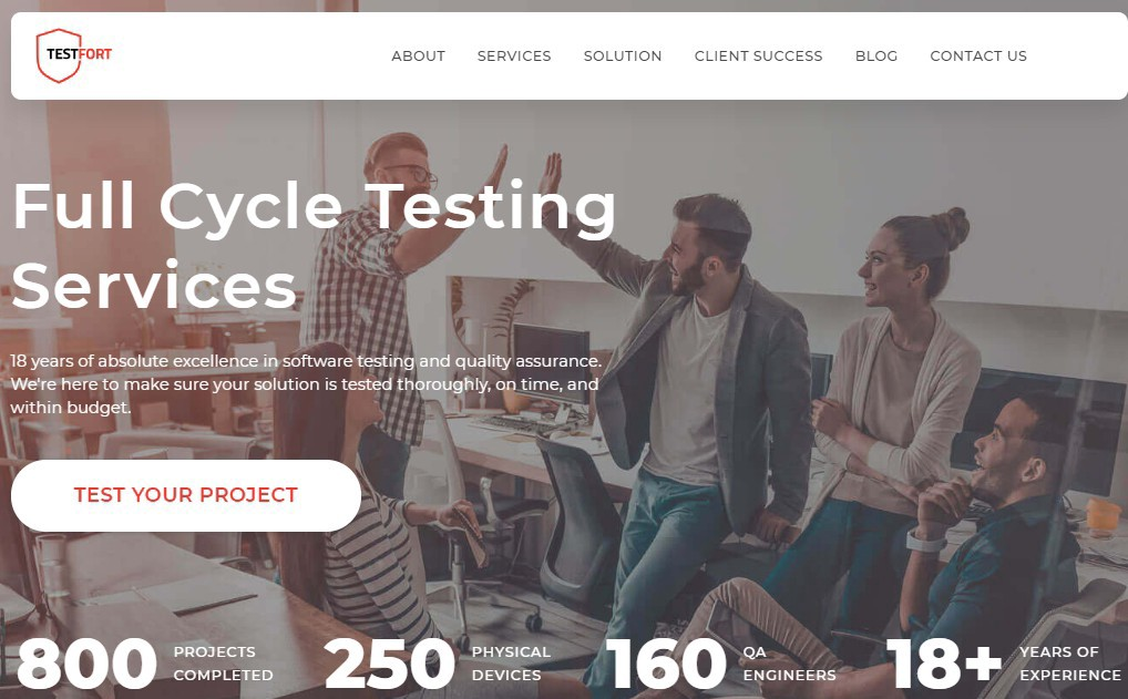 TestFort—Full Cycle Testing Services
