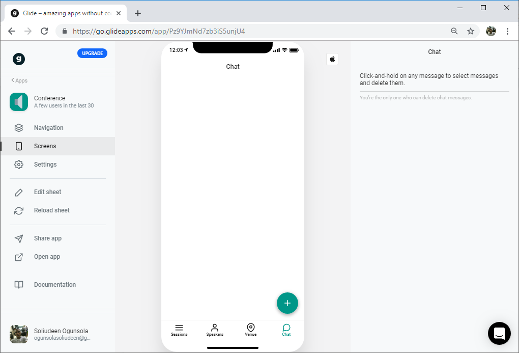Building a Conference App with Glide and Google Sheets