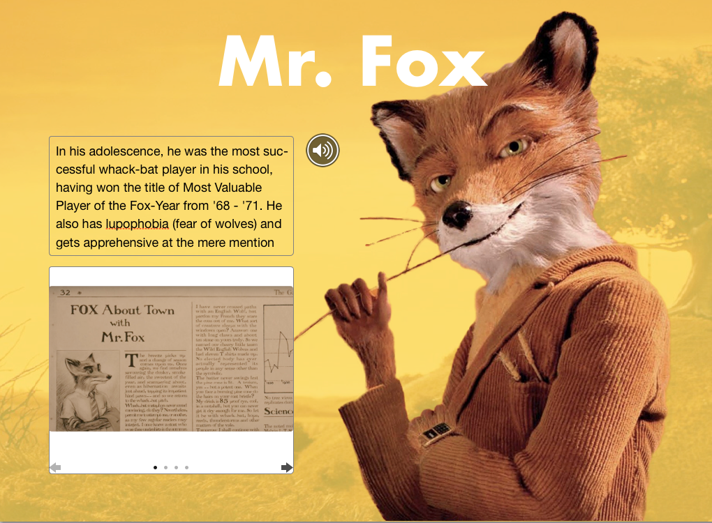 Fantastic Mr Fox Interactive Ibook By Emerson Fitzgerald By Emerson Medium