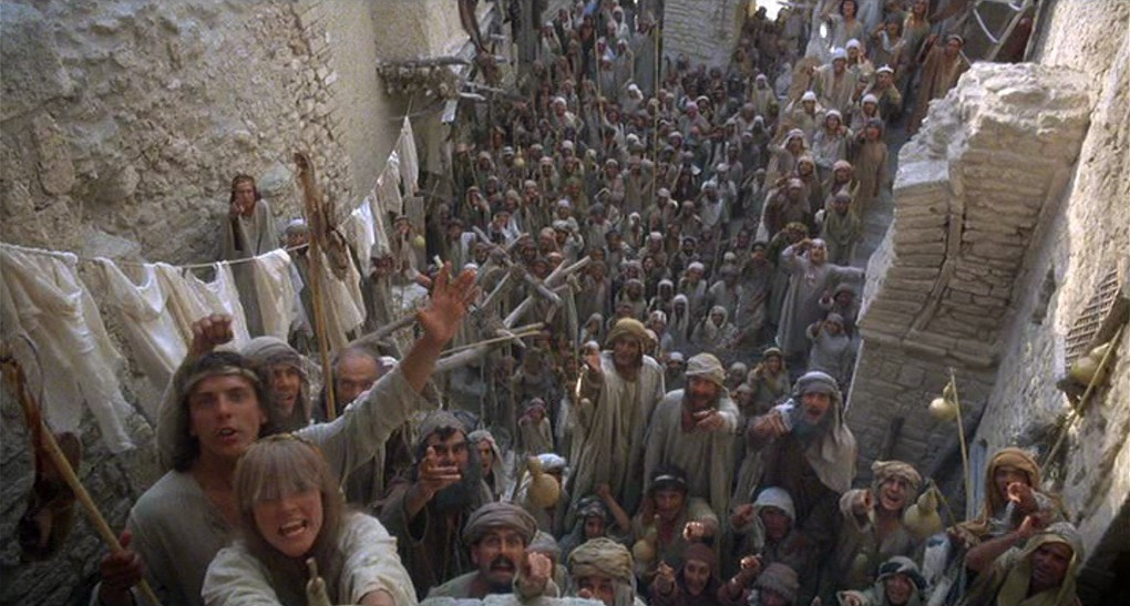 """Crowd scene from """"Life of Brian"""""""