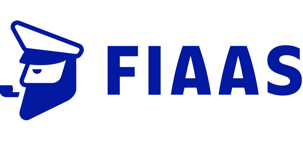 FIAAS logo, with a pipe smoking captain in profile.