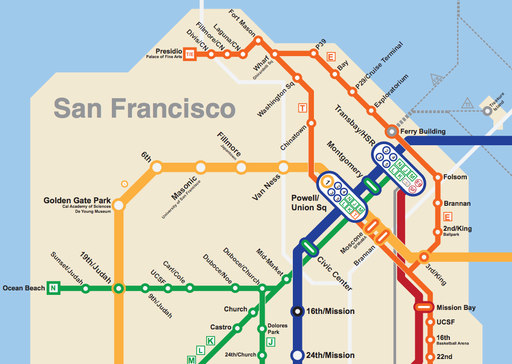 Bay Area 2050: the BART Metro Map - Future Travel