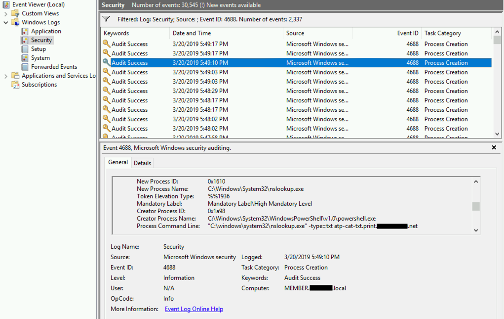 Protecting against malicious payloads over DNS using Azure