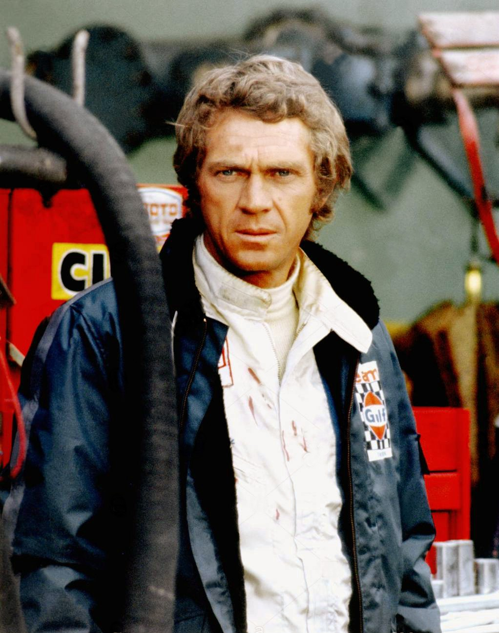 """Steve McQueen portrays tight-lipped American racer Michael Delaney in director Lee Katzin's quasi-documentary """"Le Mans."""""""