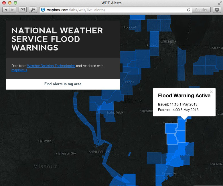 Live Weather Data and MapBox js - Points of interest