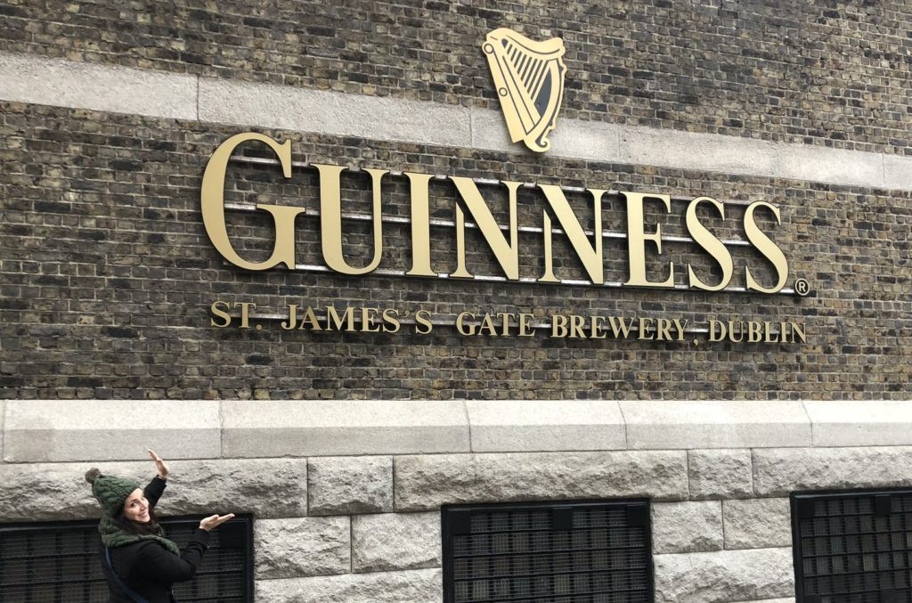 Kim at the Guinness storehouse in Dublin